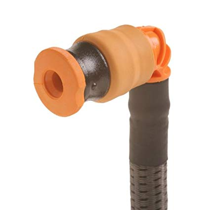 Source Outdoor Storm Hydration Push-Pull Drinking Valve Kit (Orange/Black)