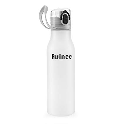 Avinee Sports Water Bottle - 600ML/21oz - Fast Flow, Leak Proof Flip Top Lid w/ One Click Open - Non-Toxic BPA Free & Eco-Friendly Co-Polyester Plastic-For The Gym, Yoga, Running, Outdoors, Cycling, and Camping