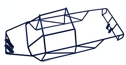 E-Maxx 3908 3903 Blue Polished Stainless Steel Full Roll Cage