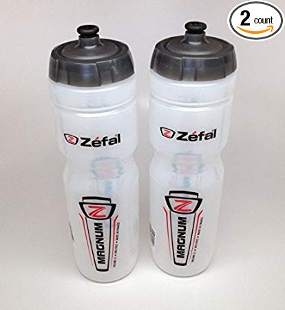 ZEFAL Magnum Bike Bicycle Clear Water Bottle 33oz 2-Pack