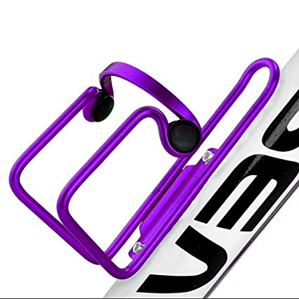 Allnice Premium Ultra Light Anti Rust Aluminum Alloy Welded Bike Bicycle Cycling Handlebar Water Bottle Cage Holder Rack Bracket Bike Accessory for MTB/Road/BMX (Purple)