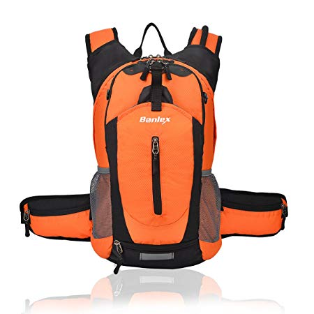 BONLEX Cycling Hydration Pack Biking Backpack 20L Multi-Function Riding Backpack with Insulation Compartment,3L Water Bladder Available,Lightweight Daypack Hiking Backpack